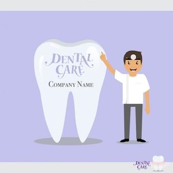 Tandheelkundige zorg achtergrond ontwerp