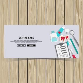 Tandheelkundige zorg banner ontwerp