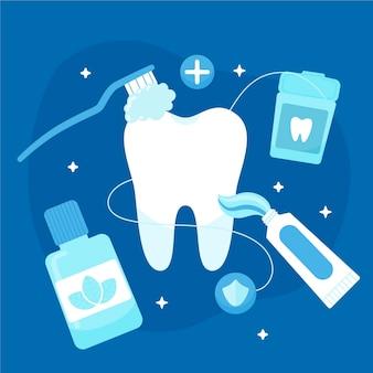 Tandheelkundige zorg concept illustratie