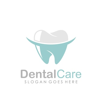 Tandheelkundige zorg en tandheelkunde logo verwaardigen sjabloon