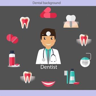 Tandheelkundige zorg iconen collectie