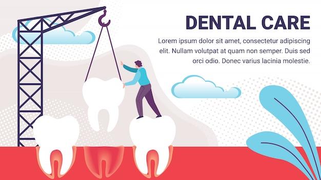 Tandheelkundige zorg illustratie