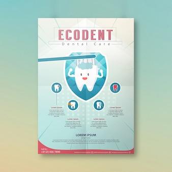 Tandheelkundige zorg kliniek posterontwerp