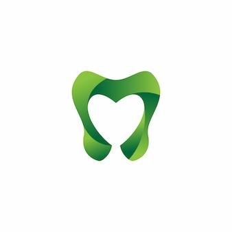 Tandheelkundige zorg logo ontwerpsjabloon