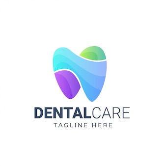 Tandheelkundige zorg logo sjabloon.
