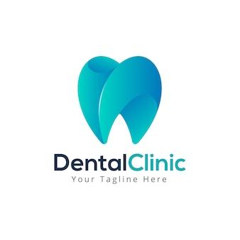 Tandheelkundige zorg tandheelkunde logo sjabloon
