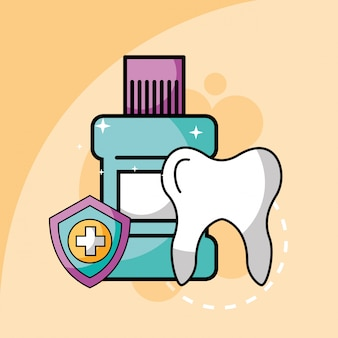 Tandmondverzorging en bescherming van het schild bij tandheelkundige zorg
