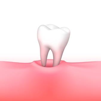 Tandverlies op witte achtergrond. vector illustratie