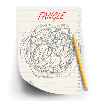Tangle scrawl sketch