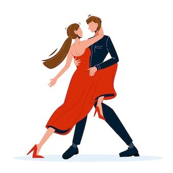 Tangodans dansend paar man en vrouw