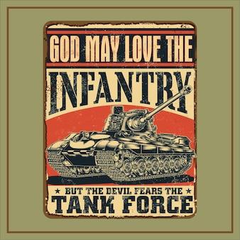 Tank kracht tekens