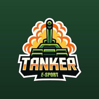 Tank on fire mascotte voor esport