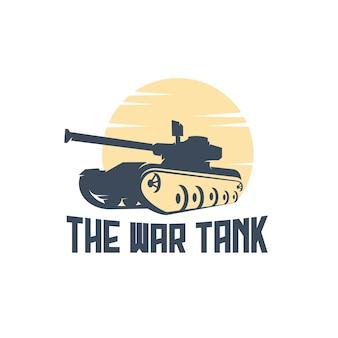 Tank oorlog logo silhouet vintage