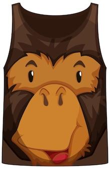 Tanktop met gezicht van apenpatroon