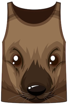Tanktop met gezicht van wallaby-patroon