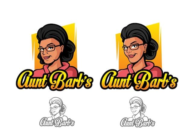 Tante barb's vector logo character
