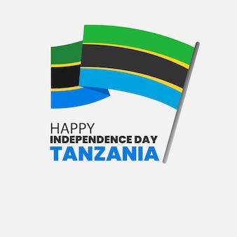 Tanzania onafhankelijkheidsdag illustratie
