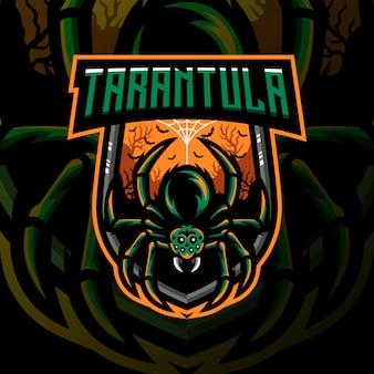 Tarantula mascotte gaming schild