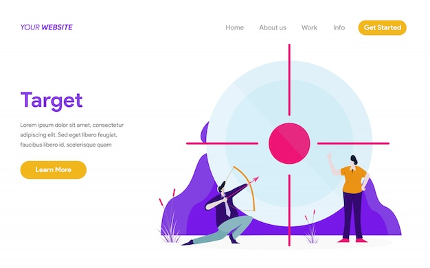 Target illustratie concept