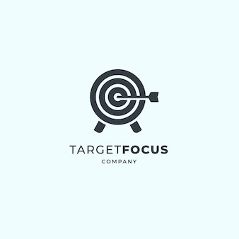 Target logo ontwerp. dartbord en dartontwerp.