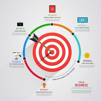 Target marketing bedrijfsconcept
