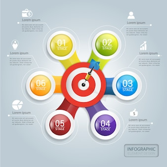 Target marketing voor succes infographic ontwerp