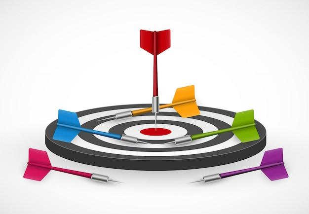 Target met darts.