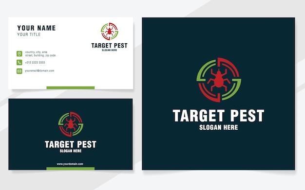 Target pest-logo sjabloon op moderne stijl