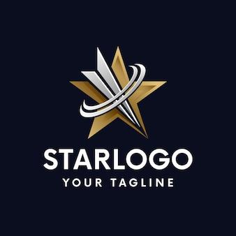 Target ster gouden logo sjabloon