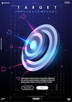 Target succesbanner in futuristische stijl