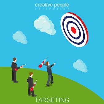 Targeting gericht plat isometrisch