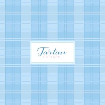 Tartan patroon met lichtblauwe kleuren