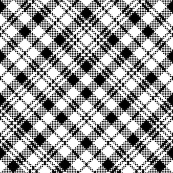 Tartan zwart horloge clan plaid naadloos patroon