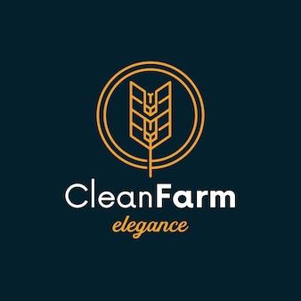 Tarwe cirkel schoon logo ontwerp