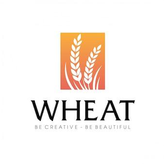 Tarwe landbouw logo