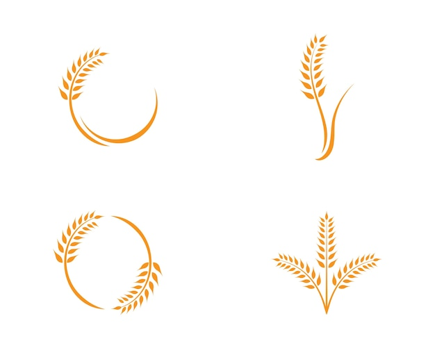 Tarwe logo sjabloon
