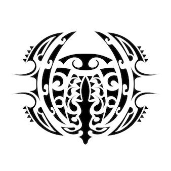 Tatoeage in polynesische stijl. polynesië patroon. geïsoleerd. vector.