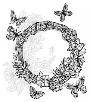 Tattoo_butterfly en bloem