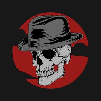 Tattoo en t-shirt ontwerp schedel premium