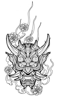 Tattoo kunst gigantische hand tekenen en schetsen zwart en wit