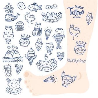 Tattoo ontwerpt collectie