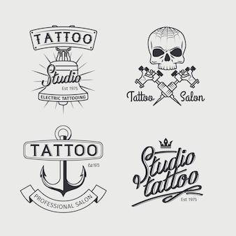 Tattoo studio logo sjablonen