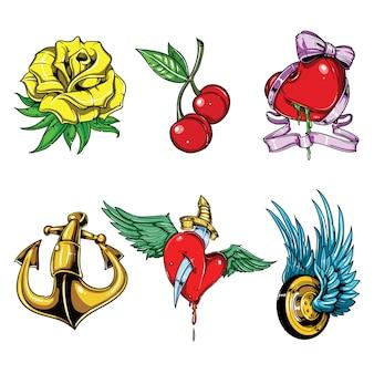 Tattoo vector set