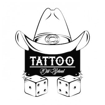 Tattooontwerp met oude schooltekeningen