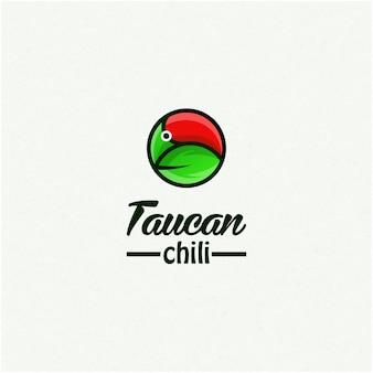 Taucan chili logo ontwerp inspiratie
