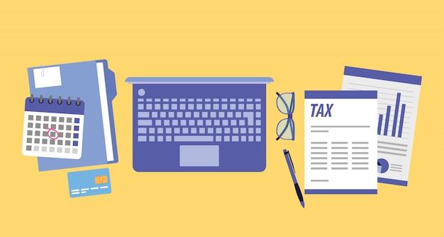 Tax day office cartoons