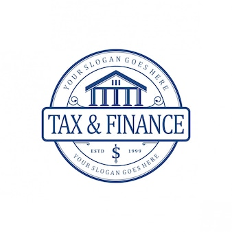 Tax & finance vintage logo