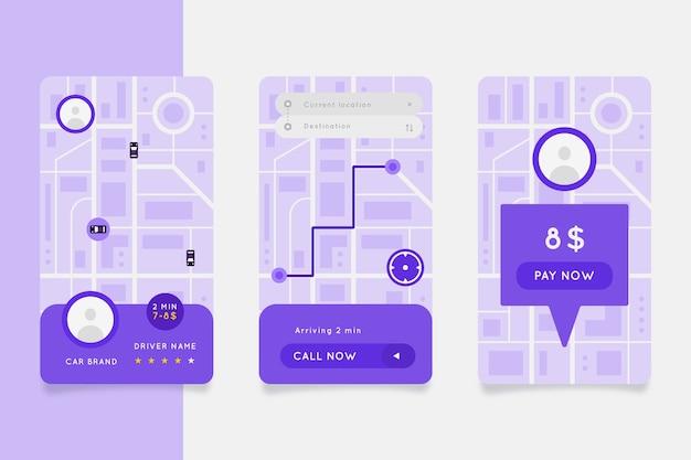 Taxi app-interface ontwerp