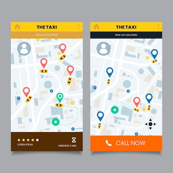 Taxi app-interface