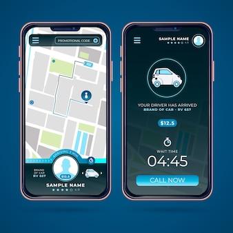 Taxi app-interface